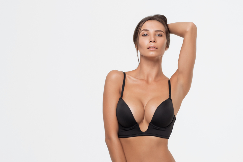 Breast Augmentation Miami Between Teardrop Round Implants